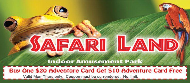 Safari Land Attractions Discount  Coupon